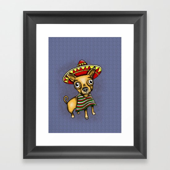 Mexican Chihuahua in Brown Framed Art Print