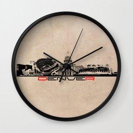 Denver skyline city Wall Clock