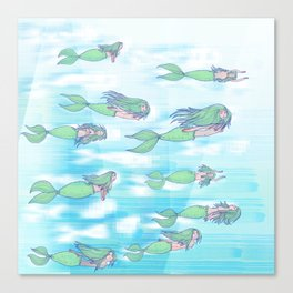 Mermaids dream by day Canvas Print