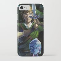 sword iPhone & iPod Cases featuring Skyward Sword by EB & JJ