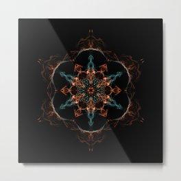Primordial Star Mandala Metal Print