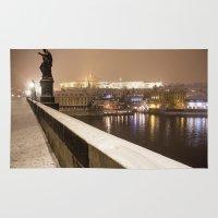 prague Area & Throw Rugs featuring Prague 7 by Veronika