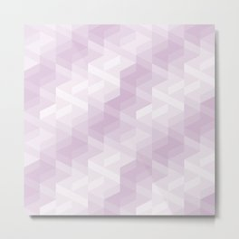 Tiles background in different shades of purple made with triangles mosaic Metal Print