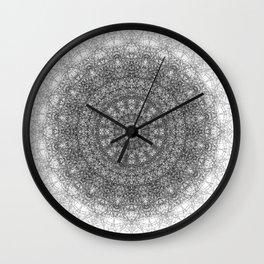 """Chemin A"" black Wall Clock"