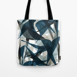Abstract Whale Monotone Tote Bag
