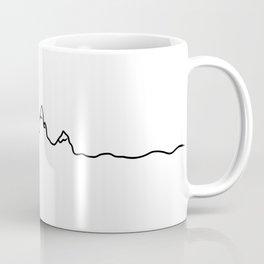 mountains line Coffee Mug