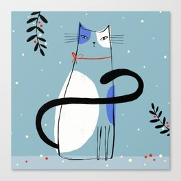 HOLIDAY CAT Canvas Print