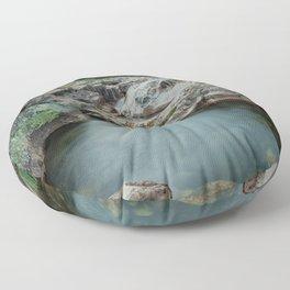 River Landscape Floor Pillow