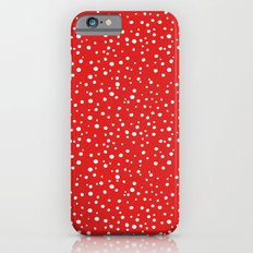 PolkaDots-White on Red iPhone 6s Slim Case