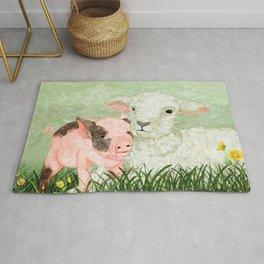 Lamb and Piglet Rug