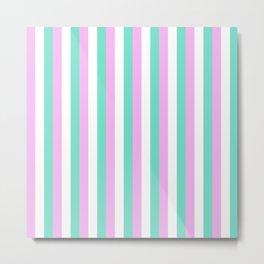Spun Sugar Stripes Pattern Print Metal Print