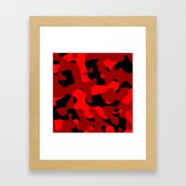 Black and Red Camo abstract Framed Art Print