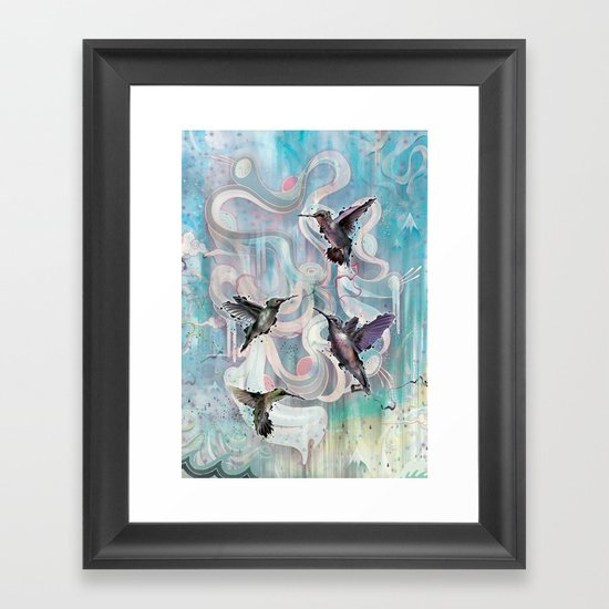 Hummingbirds Framed Art Print