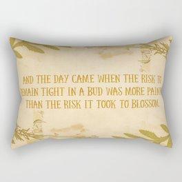 Autumn Anais Nin Quote Rectangular Pillow