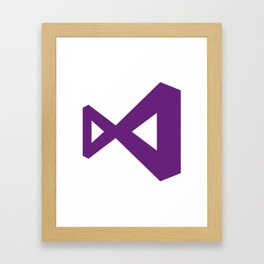 visual studio logo sticker C# Framed Art Print