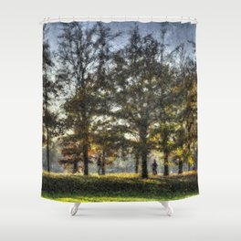Greenwich Park Pastel Shower Curtain