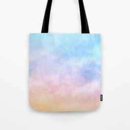 Pastel Rainbow Watercolor Clouds Tote Bag