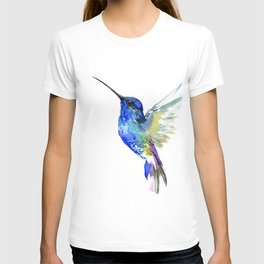 Hummingbird, Turquoise BLue Flying Bird decor T-shirt