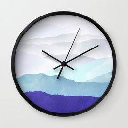MOUNTAINS minimalist print Wall Clock