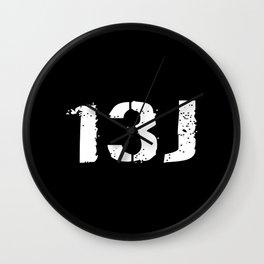 13J Fire Control Specialist Wall Clock