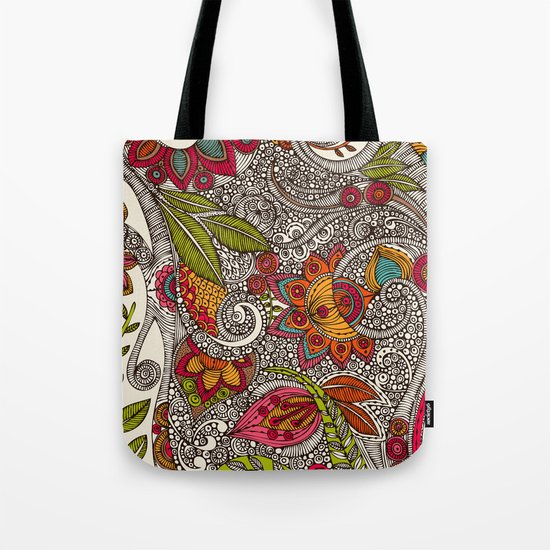 Random Flowers Tote Bag