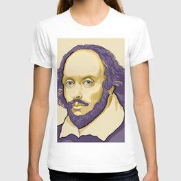 Shakespeare - royal purple and yellow T-shirt