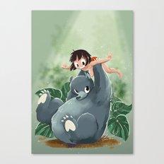 Mowgli and Baloo Canvas Print
