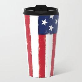 Old American flag Vintage Travel Mug