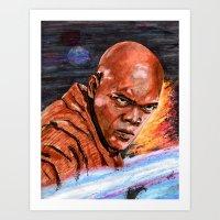 jedi Art Prints featuring Jedi by Morales