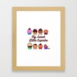 My Sweet Little Cupcake Framed Art Print