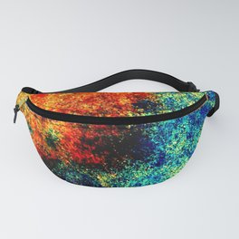 Abstract painting orange blue Fanny Pack