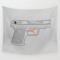 gun Wall Tapestries featuring Water Gun by Ryder Doty