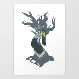 Blossom Grey Art Print