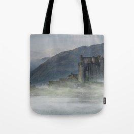 Eilean Donan Castle at dawn Tote Bag