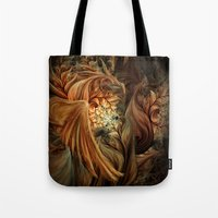 phoenix Tote Bags featuring Phoenix by SensualPatterns