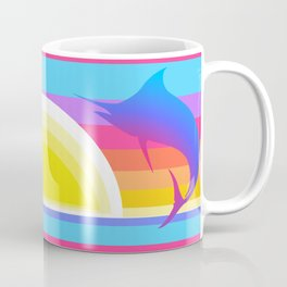 Retro Graphic Sunset Marlins Coffee Mug