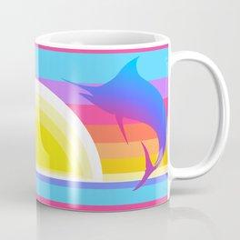Retro Graphic Sunset Marlins Coffee Mug