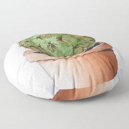 Prickly Pear Cactus Floor Pillow
