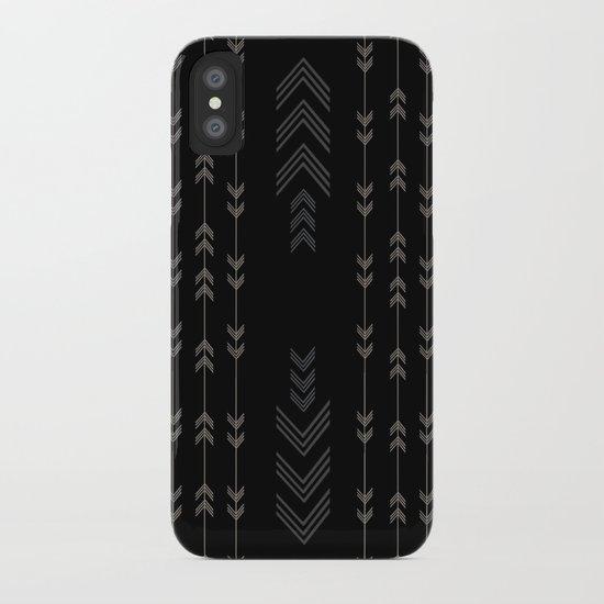 Headlands Arrows Black iPhone Case