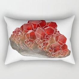 Garnet- January birthstone crystal gemstone specimen painting Rectangular Pillow