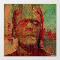 frankenstein Canvas Prints featuring frankenstein by Joe Ganech