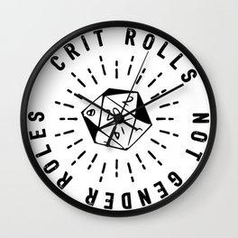 Crit Rolls / Not Gender Roles Wall Clock