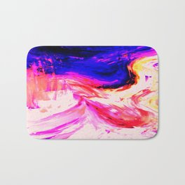 Abstract Hurricane 3 by Robert S. Lee Bath Mat
