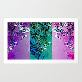 Triptych: Spring Synthesis Art Print