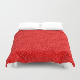 Red geometric star pattern Duvet Cover