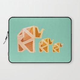 Wooden Origami Elephants Laptop Sleeve