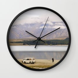 Alone at the Lake Wall Clock