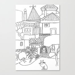 Garden Of Malaga Canvas Print
