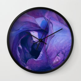 Floribunda Rose - Electric Purple Wall Clock
