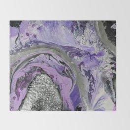 Lavender Geode Throw Blanket
